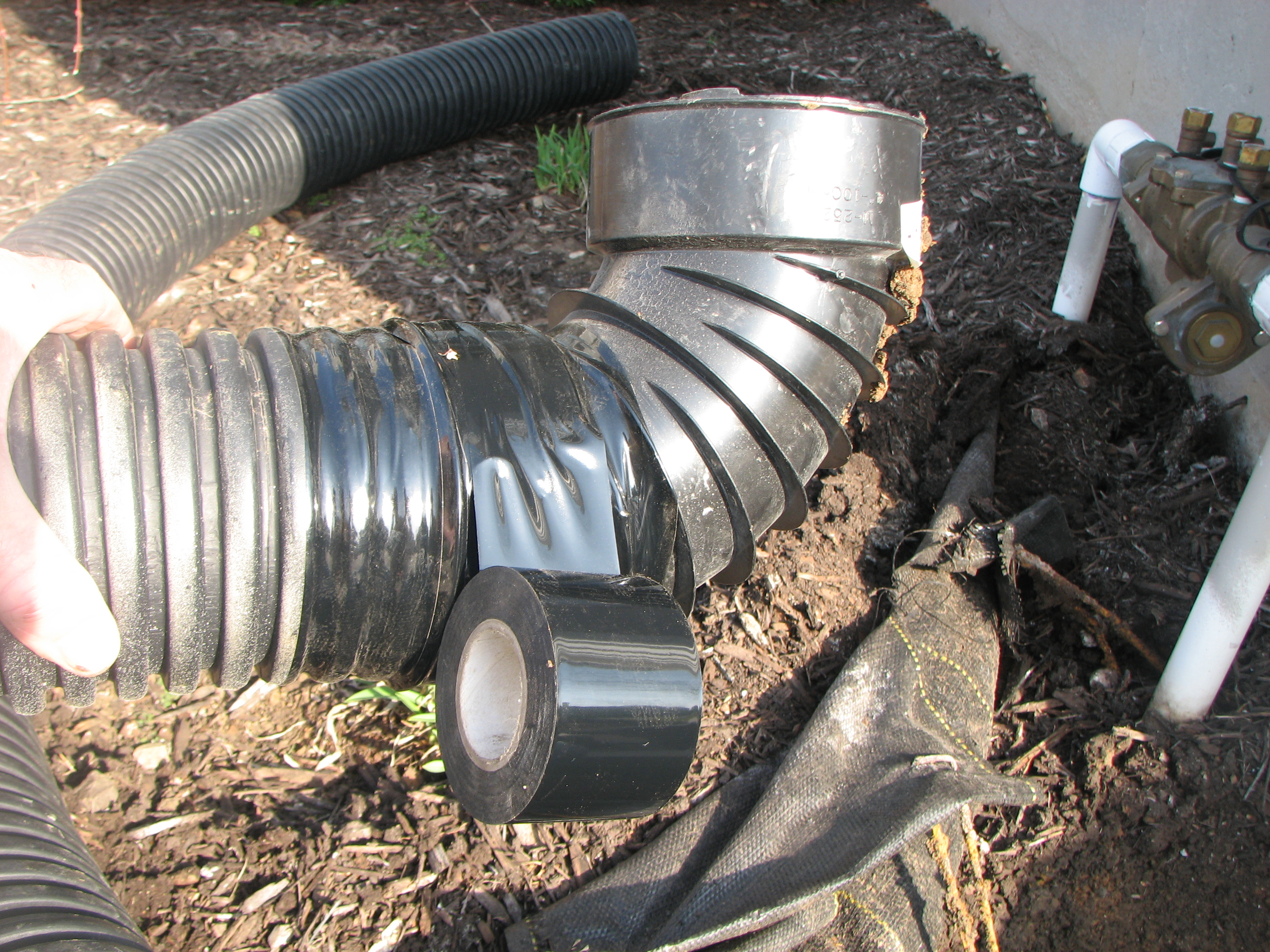 Downspout Drain Installed Teacher S Landscaping Amp Irrigation